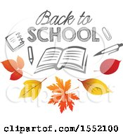Back To School Design With Autumn Leaves