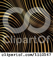 Clipart Of A Black And Golden Stripe Background Royalty Free Vector Illustration
