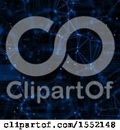 Clipart Of A Blue And Black Network Background Royalty Free Illustration