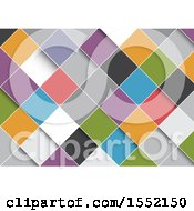 Clipart Of A Background Of Colorful Diamonds Royalty Free Vector Illustration by KJ Pargeter