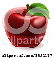 Clipart Of A Deep Red Apple Royalty Free Vector Illustration