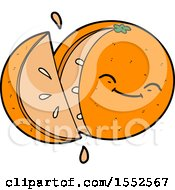 Cartoon Sliced Orange