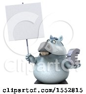 Poster, Art Print Of 3d Chubby White Horse Holding A Euro On A White Background