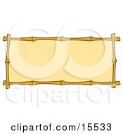 Banner With A Bamboo Border Clipart Illustration