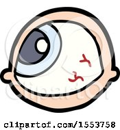 Spooky Staring Eyeball Cartoon