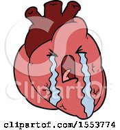 Cartoon Heart Crying by lineartestpilot
