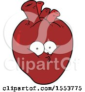 Cartoon Confused Heart by lineartestpilot