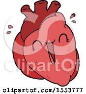 Cartoon Heart Laughing