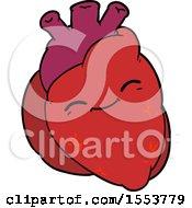 Cartoon Happy Heart by lineartestpilot
