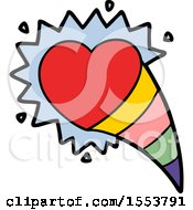 Poster, Art Print Of Cartoon Shooting Love Heart Sign