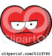 Poster, Art Print Of Cartoon Angry Heart
