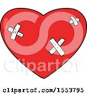 Poster, Art Print Of Cartoon Beaten Up Heart