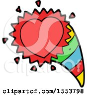 Poster, Art Print Of Cartoon Love Heart Symbol