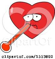 Poster, Art Print Of Cartoon Love Sick Heart