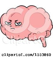 Cartoon Angry Brain
