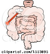 Cartoon Unhealthy Intestines