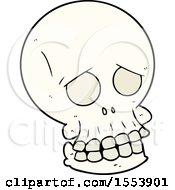 Poster, Art Print Of Cartoon Spooky Skull