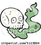Poster, Art Print Of Cartoon Haunted Skull