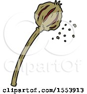 Poster, Art Print Of Dried Poppy Cartoon