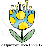 Poster, Art Print Of Cartoon Patterned Flower