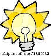 Poster, Art Print Of Cartoon Shining Light Bulb