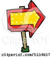 Cartoon Pointing Arrow Sign