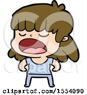 April 21st, 2018: Cartoon Woman Talking Loudly by lineartestpilot