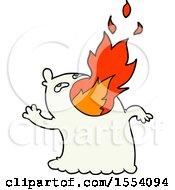 April 21st, 2018: Cartoon Fire Breathing Ghost by lineartestpilot