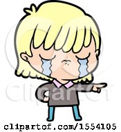 April 21st, 2018: Cartoon Woman Crying by lineartestpilot