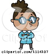 April 21st, 2018: Cartoon Woman Wearing Glasses by lineartestpilot