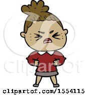 April 21st, 2018: Cartoon Angry Woman by lineartestpilot