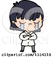 April 22nd, 2018: Cartoon Woman Crying by lineartestpilot