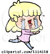 Cartoon Woman In Tears