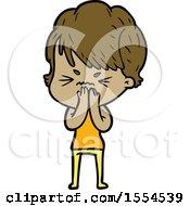 Cartoon Frustrated Woman