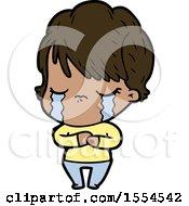 Cartoon Woman Crying