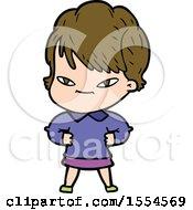 Cartoon Happy Woman