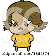Cartoon Stressed Woman
