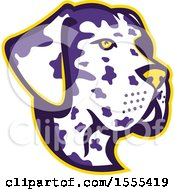 Clipart Of A Retro Great Dane Dog Mascot Head Royalty Free Vector Illustration