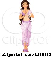 Clipart Of An Arabian Princess Jasmine Royalty Free Vector Illustration