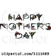Happy Mothers Day Greeting With Flowers
