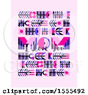 Happy Mothers Day Design With Mom I Love You Text On Pink