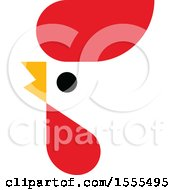 Clipart Of A Rooster Mascot Design Royalty Free Vector Illustration