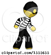 Yellow Thief Man Suspense Action Pose Facing Right