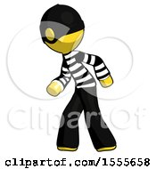 Yellow Thief Man Suspense Action Pose Facing Left
