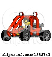 Yellow Thief Man Riding Sports Buggy Side Angle View