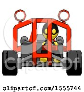 Yellow Thief Man Riding Sports Buggy Front View