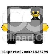 Yellow Thief Man Driving Amphibious Tracked Vehicle Front View