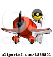 Yellow Thief Man Flying In Geebee Stunt Plane Viewed From Below
