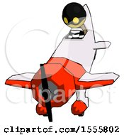 Yellow Thief Man In Geebee Stunt Plane Descending Front Angle View