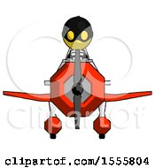 Yellow Thief Man In Geebee Stunt Plane Front View